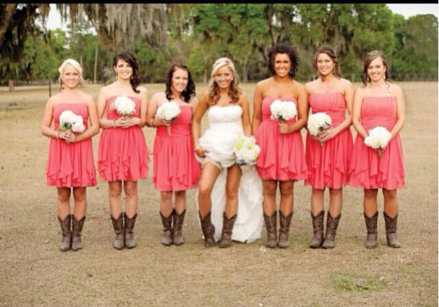 cheap coral 2016 new simple country bridesmaids dresses