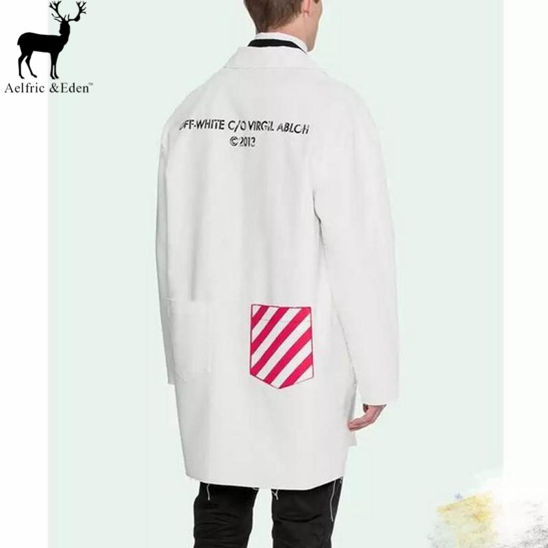 Aelfric Eden Off White Work Jacket Extended Canvas Stripe Working ...