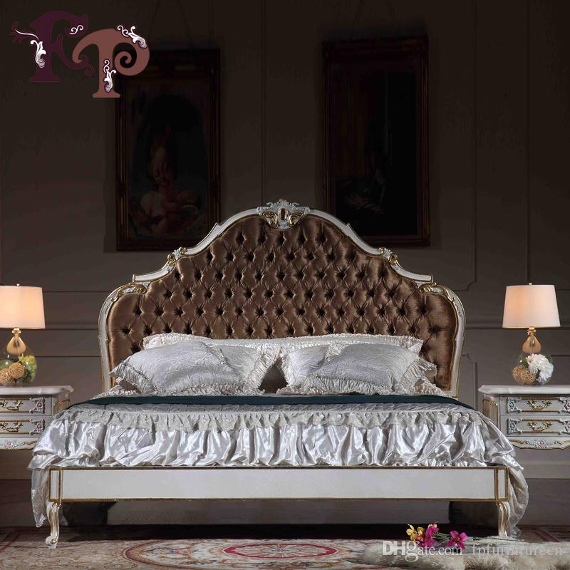 Furniture Bed Classic hand Carved Bedroom Italian Luxury