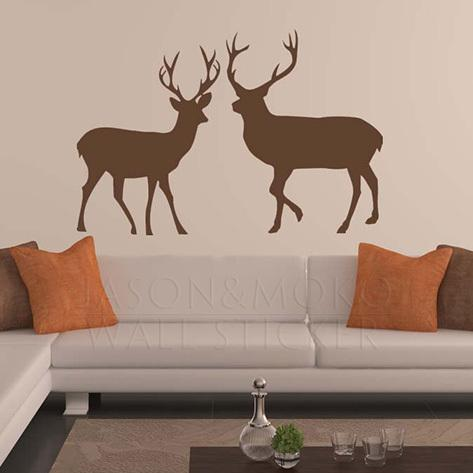 Home Decor Wall Sticker Deer, Buck, Doe Wall Decal, Wall Decor