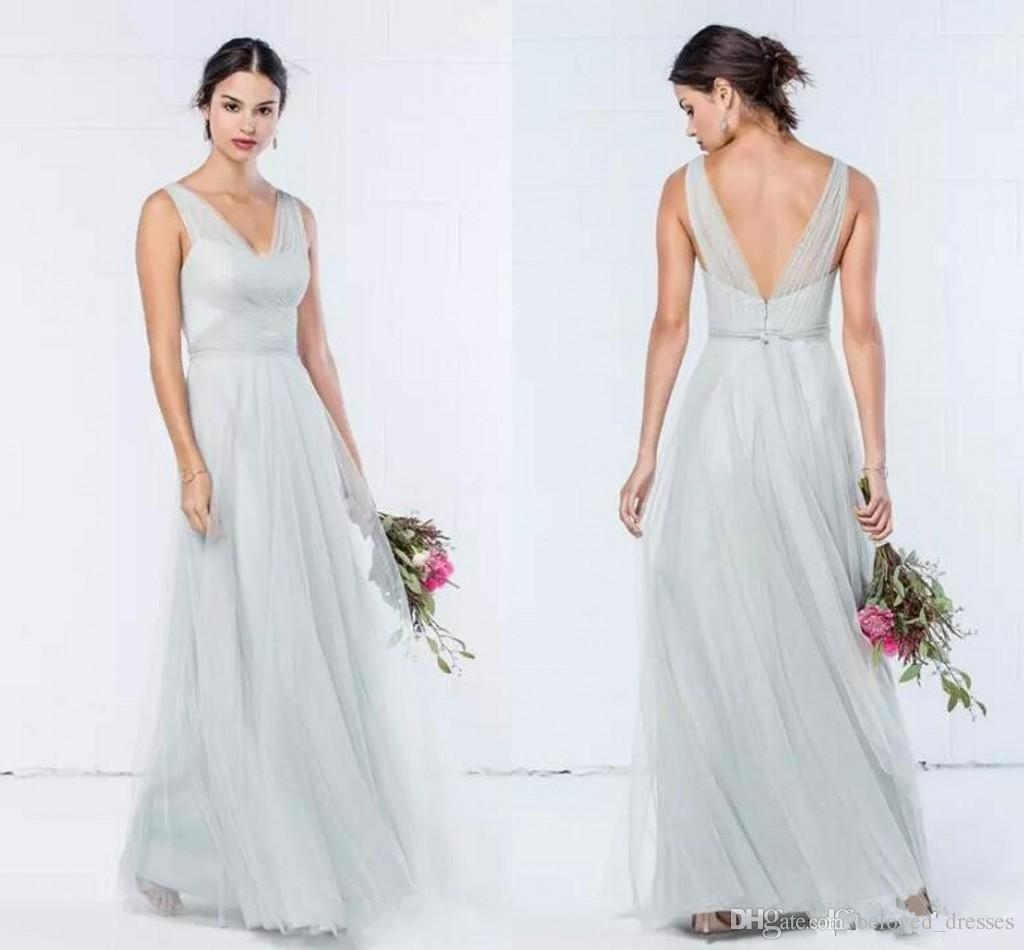 2018 bridesmaid dresses party evening bridesmaids dresses prom 2018 bridesmaid dresses party evening bridesmaids dresses prom dress long wedding guest dress tulle v neck pleats backless floor length bridesmaid dresses ombrellifo Choice Image