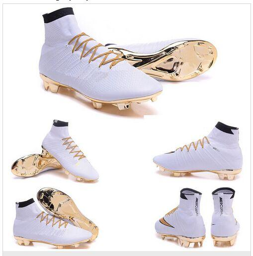 nike cr7 cleats gold white