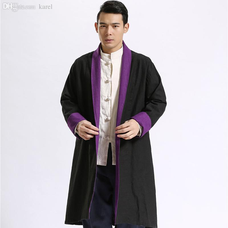 Fall-Plus Size Trench Coat Men Two Side Extra Long Coat Winter ...