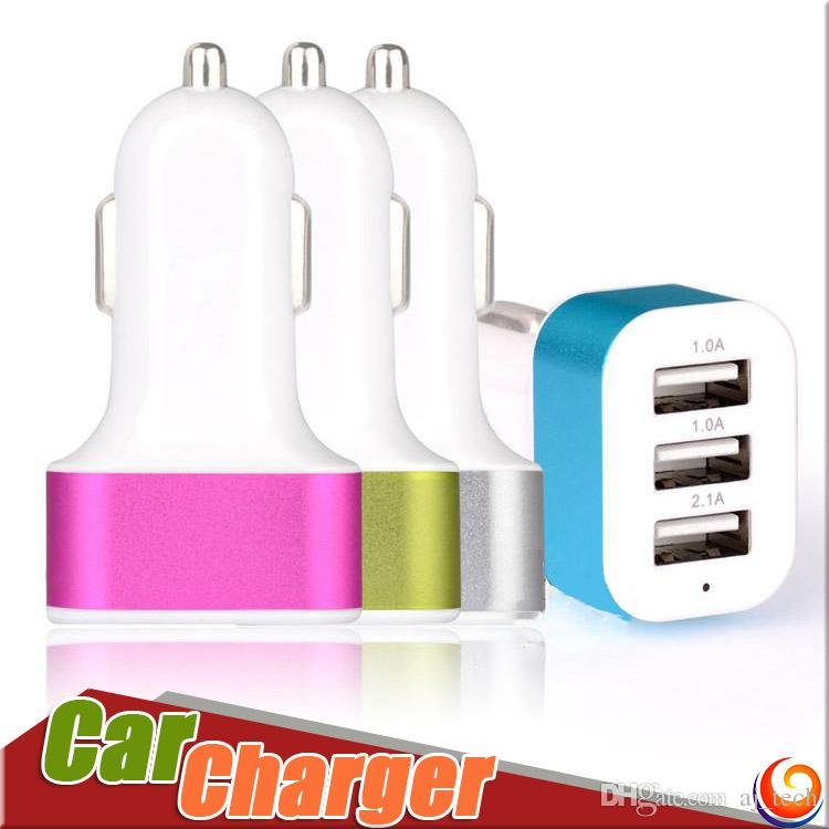 For IPhone 7 Car Charger 3 USB Ports Car Charger Plug Hot