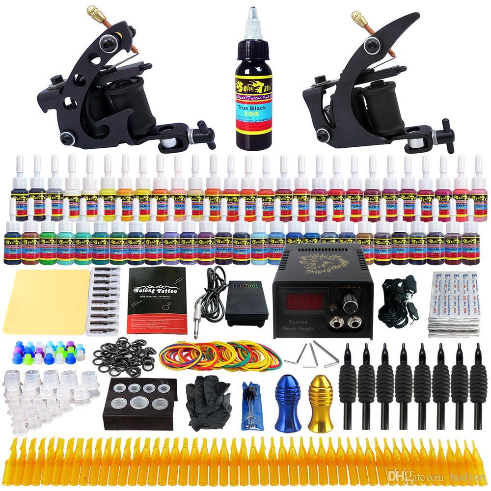 Solongtattoo wholesale sale tattoo kit 2 beginner machine for Tattoo supplies wholesale