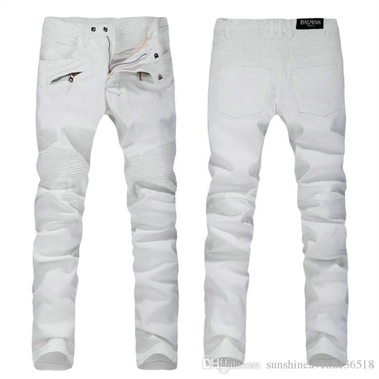 white designer jeans - Jean Yu Beauty