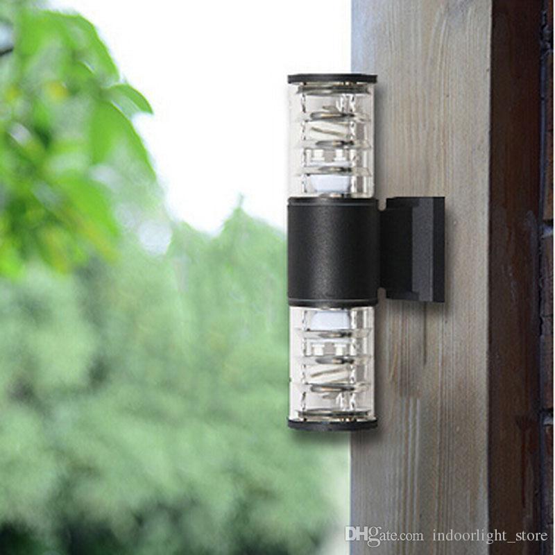 10w Up Down Outdoor Led Wall Light Cylinder Porch Lamp Luminaria Side Aluminum Waterproof Garden Light 110v 240v Outdoor Wall Lamp Wall Light Outdoor Wall