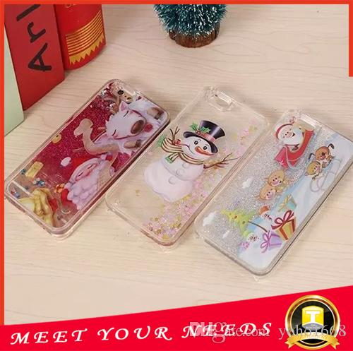 Colorful Christmas Stars Liquid Glitter Quicksand 3D Bling Phone Case Cover Apple Iphone 6 Plus Shining Star