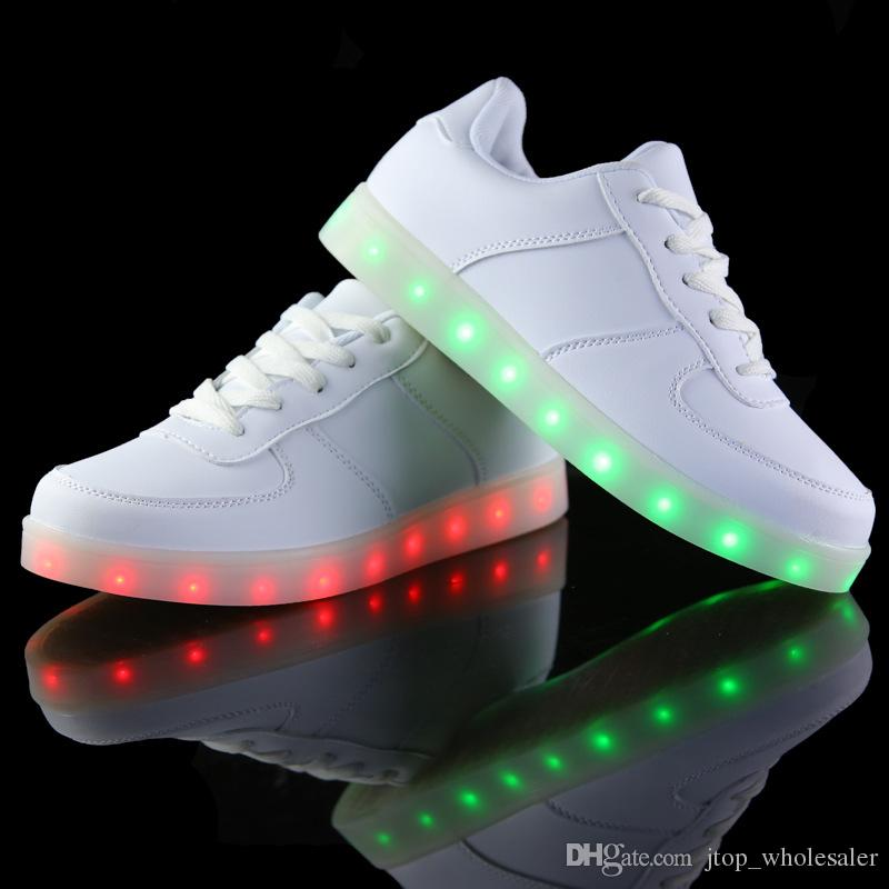 shoes luminous for light up shoe casual adults charging glowing shoes. Black Bedroom Furniture Sets. Home Design Ideas