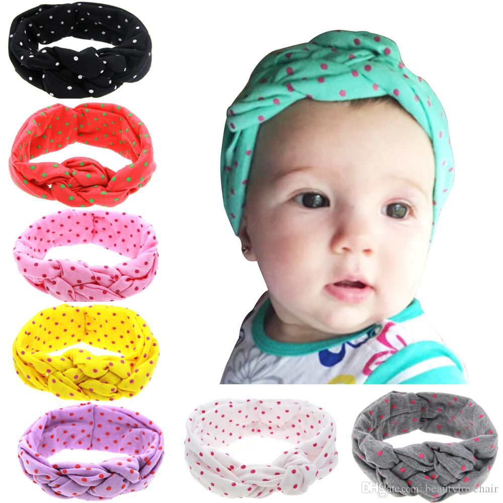 2016 New Dot Headbands pour les filles Multi couleur Baby Boutique Hair Bows Chi