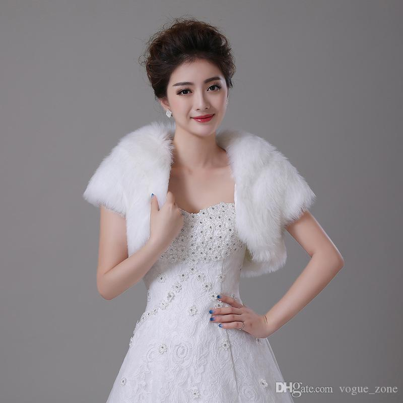 Best 2016 white winter wedding shawls for dresses new faux for Winter shawls for wedding dresses