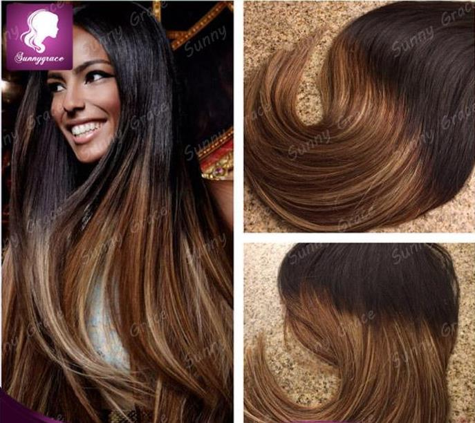Two tone 1b 4 brazilian weave hair bundles virgin body wave human two tone 1b 4 brazilian weave hair bundles virgin body wave human hair extension cheap tape hair human hair hair extensions online with 11476piece on pmusecretfo Image collections