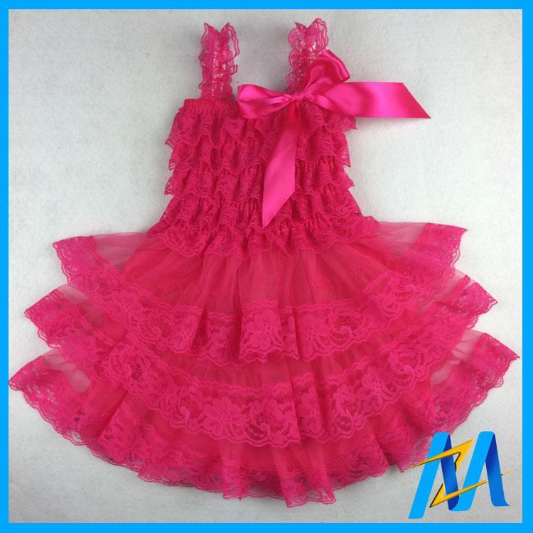 2017 Wholesale Baby Girl Birthday Party Wear Dress Children Girls ...