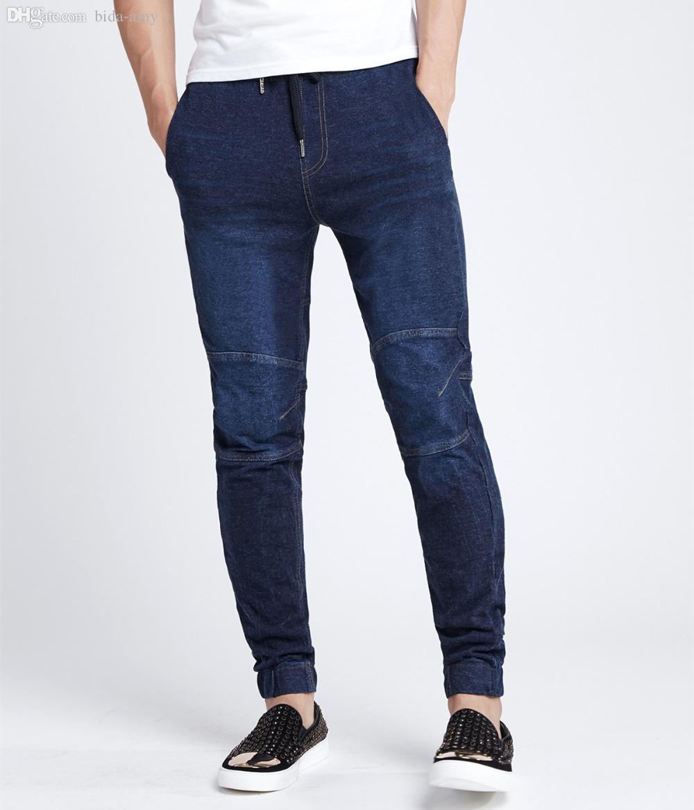 Discount Navy Blue Skinny Jeans Men   2017 Navy Blue Skinny Jeans ...
