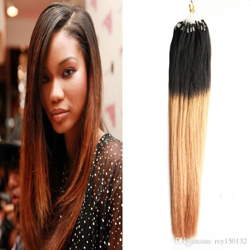 Blonde ombre micro loop human hair extensions straight t1b27 two blonde ombre micro loop human hair extensions straight t1b27 two tone rey ombre human hair 100g micro bead extensions brazilian virgin hair micro loop pmusecretfo Gallery