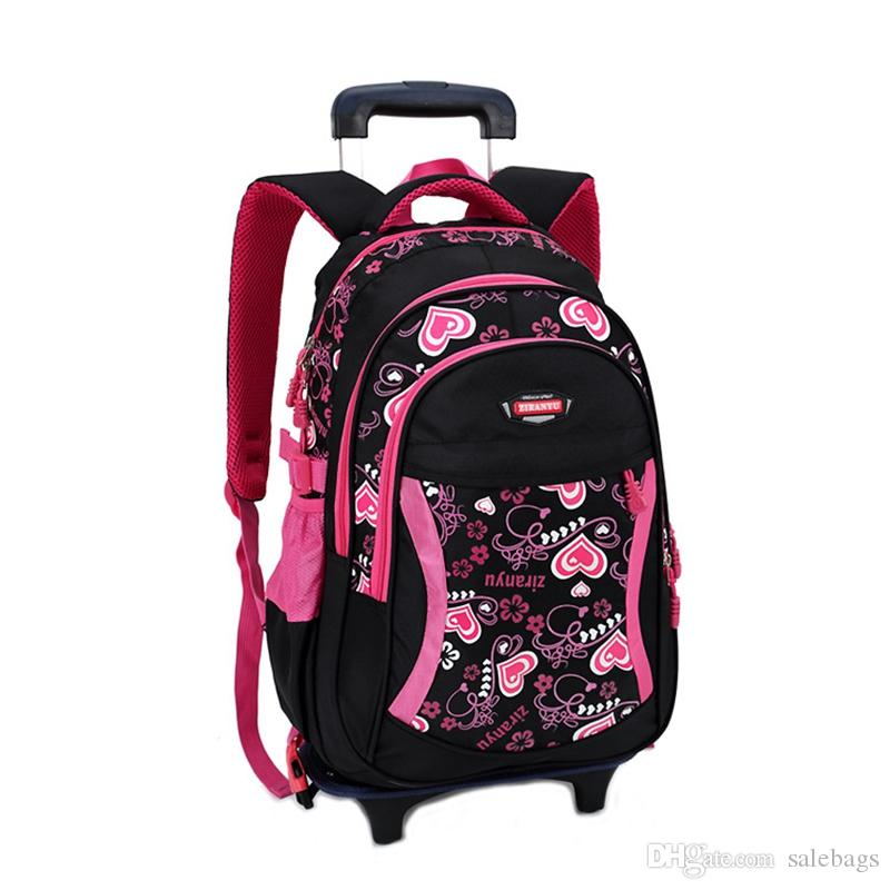 2016 New Children School Bags With 3 Wheels Removable Children ...
