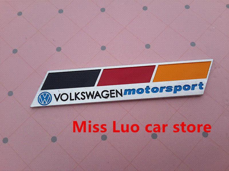 vw motorsport logo car emblem badge decal sticker for. Black Bedroom Furniture Sets. Home Design Ideas