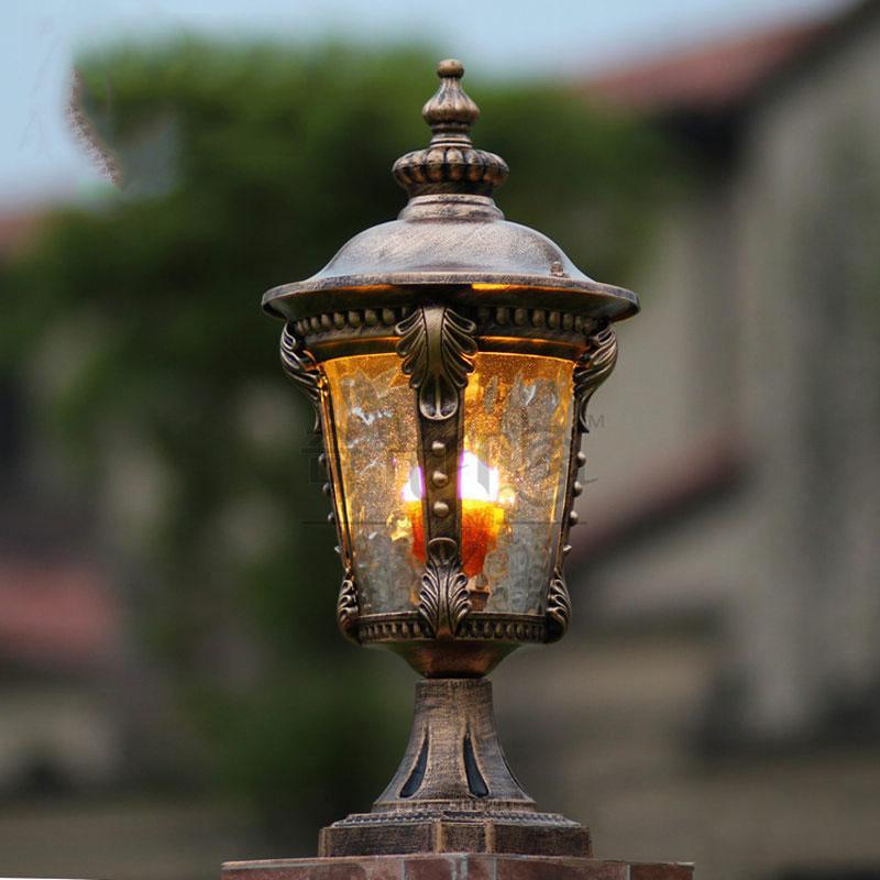 Aluminum Decorative Lighting Outdoor Lamppost Headlights Fence Pillar Lights  Garden Column Lamp Column Chapiter Lighting WCS OCL003 Pillar Lamp Chapiter  ...