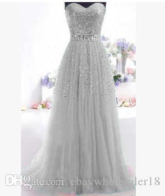 Sparkly long chiffon a line pleated bridesmaid dresses for Sparkly beach wedding dresses