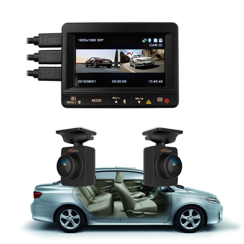 Original K1s Ambarella A7la70 2 Channel Front Rear Camera