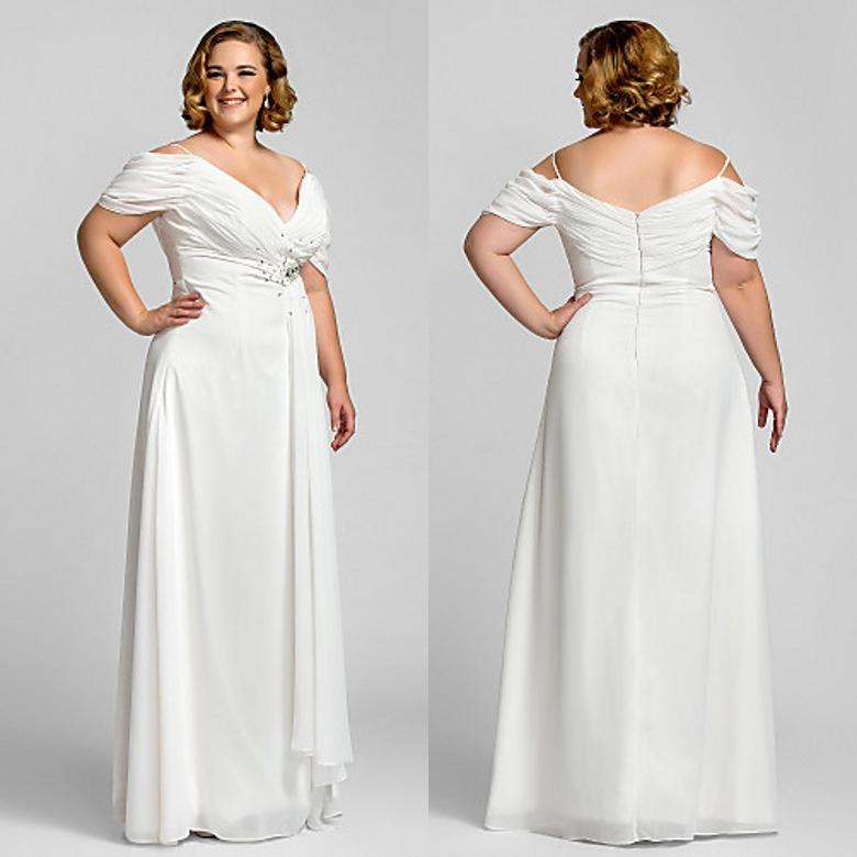 Summer Plus Size Special Occasion Dresses Ivory Off ...
