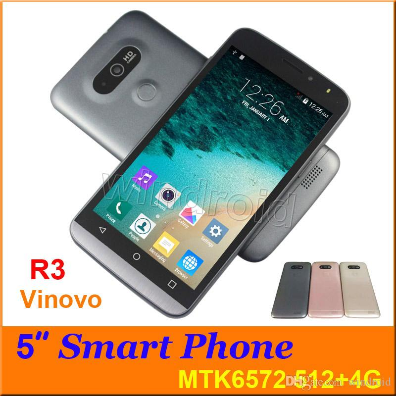 GPS Vinovo R3 5 pouces Dual Core 3G Android 4.4 G5 Smart Phone Dual Sim MTK6572