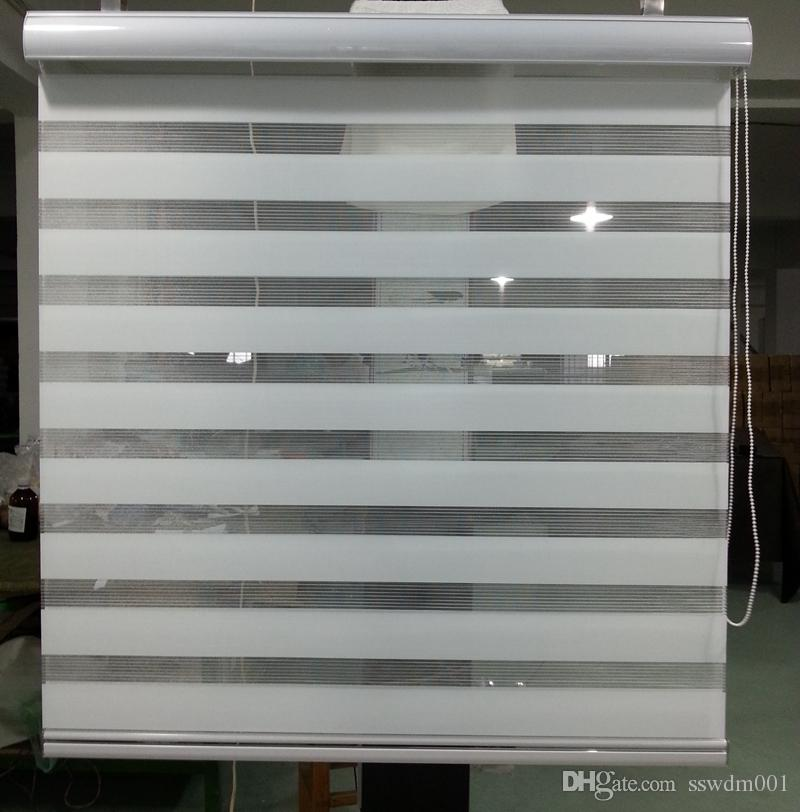 2017 Hot Sale Translucent Roller Zebra Blinds In White