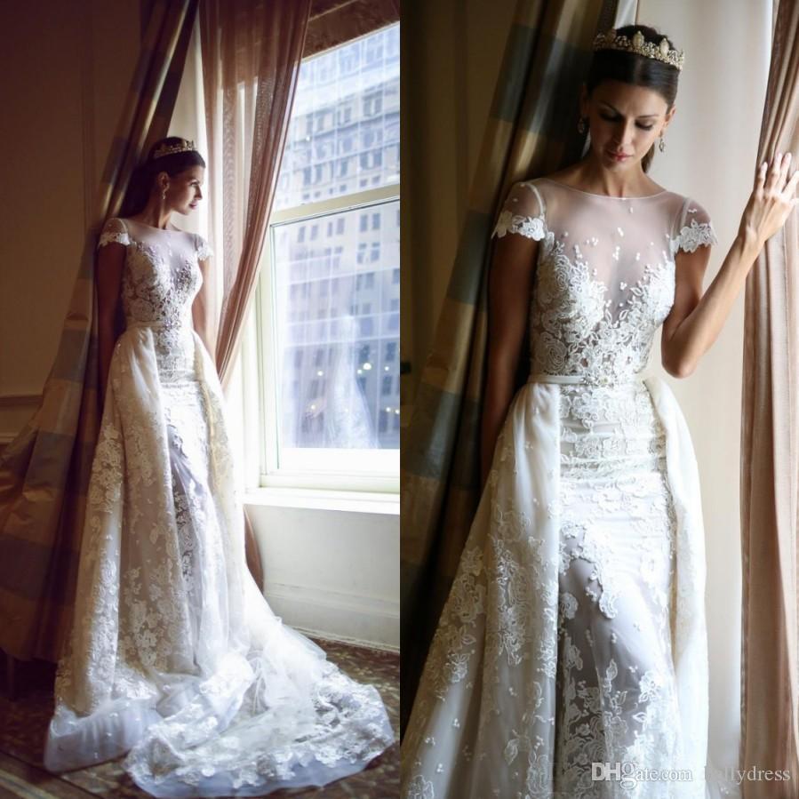 Gergous overskirt berta mermaid wedding dresses 2016 for Cheap wedding dresses in dubai