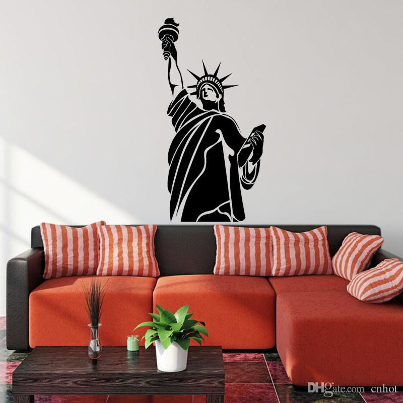 Statue Of Liberty New York Wall Decal Sticker Vinyl Art Living Room Home  Decor Wall Sticker Wall Decal Music Wall Sticker Online With $21.85/Piece  On ... Part 53