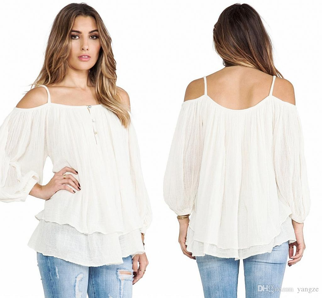 Plus Size Women Clothing 2016 New Fashion Sexy Tops Off Shoulder ...