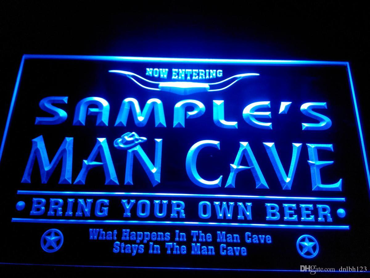 Man Cave Bar Names : Dz b name personalized man cave cowboys bar neon