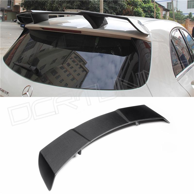 carbon fiber rear roof spoiler of mercedes benz and benzene class a45 amg a180 a200 a220 w176. Black Bedroom Furniture Sets. Home Design Ideas