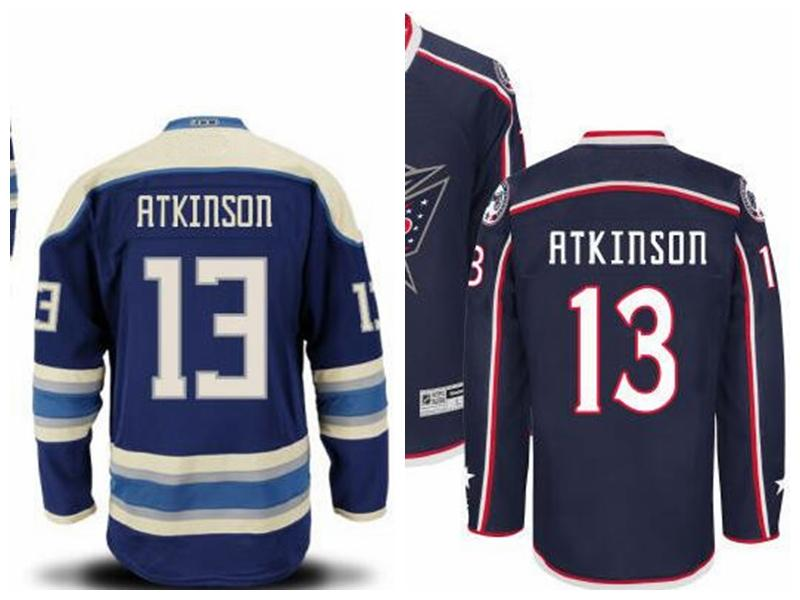 2017 Authentic #13 Cam Atkinson Jersey Columbus Blue Jackets ...