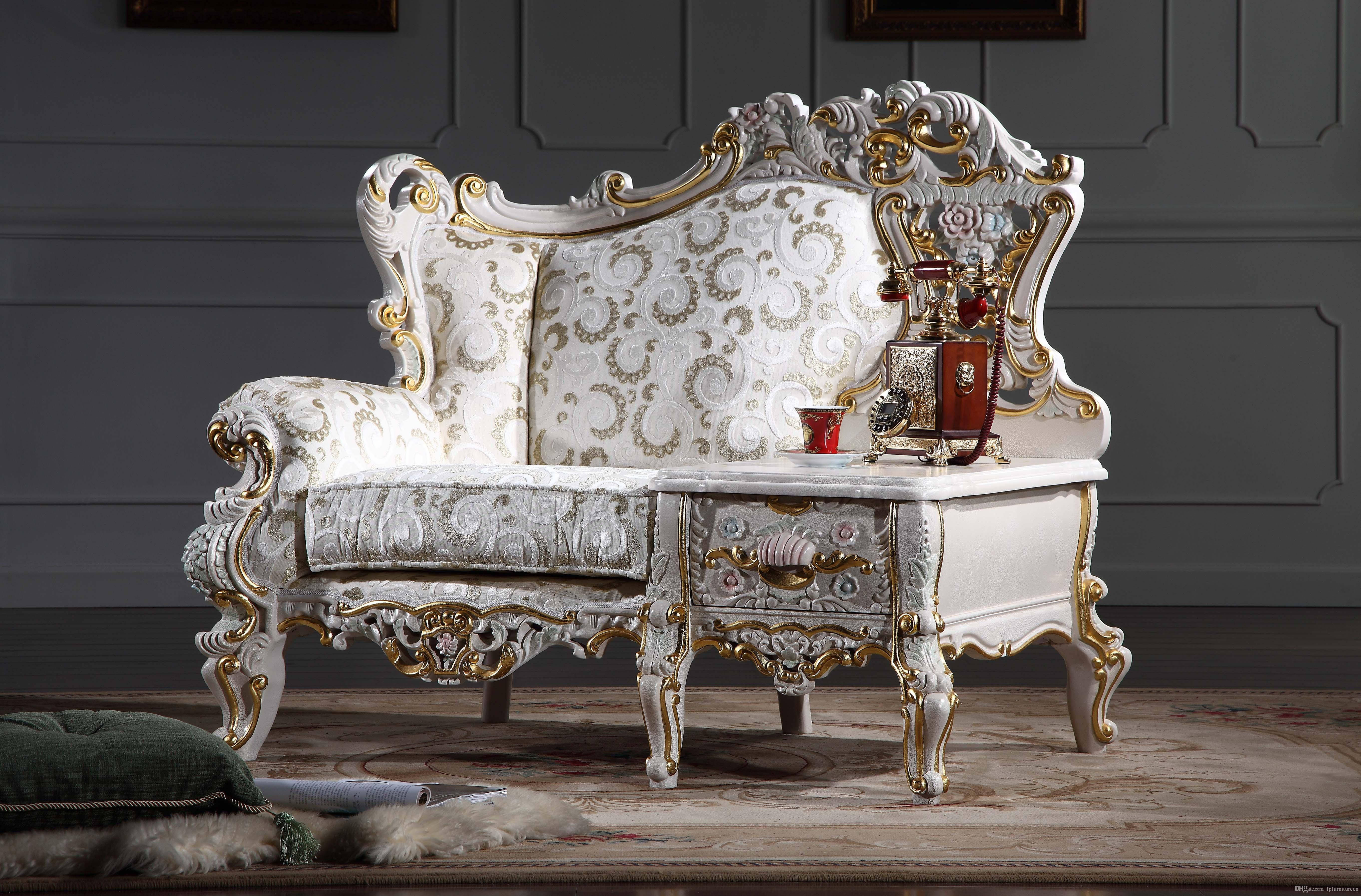 2018 French Royalty Classic Living Room Furniture European