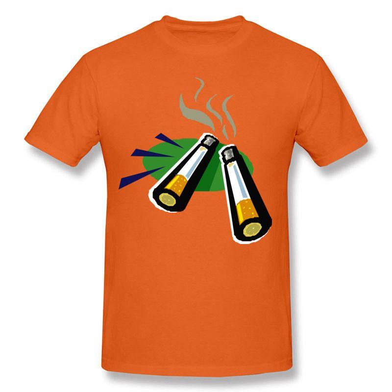 Men 100% Cotton T Shirt Cigarettes Print Own T Shirt Men Shirt ...