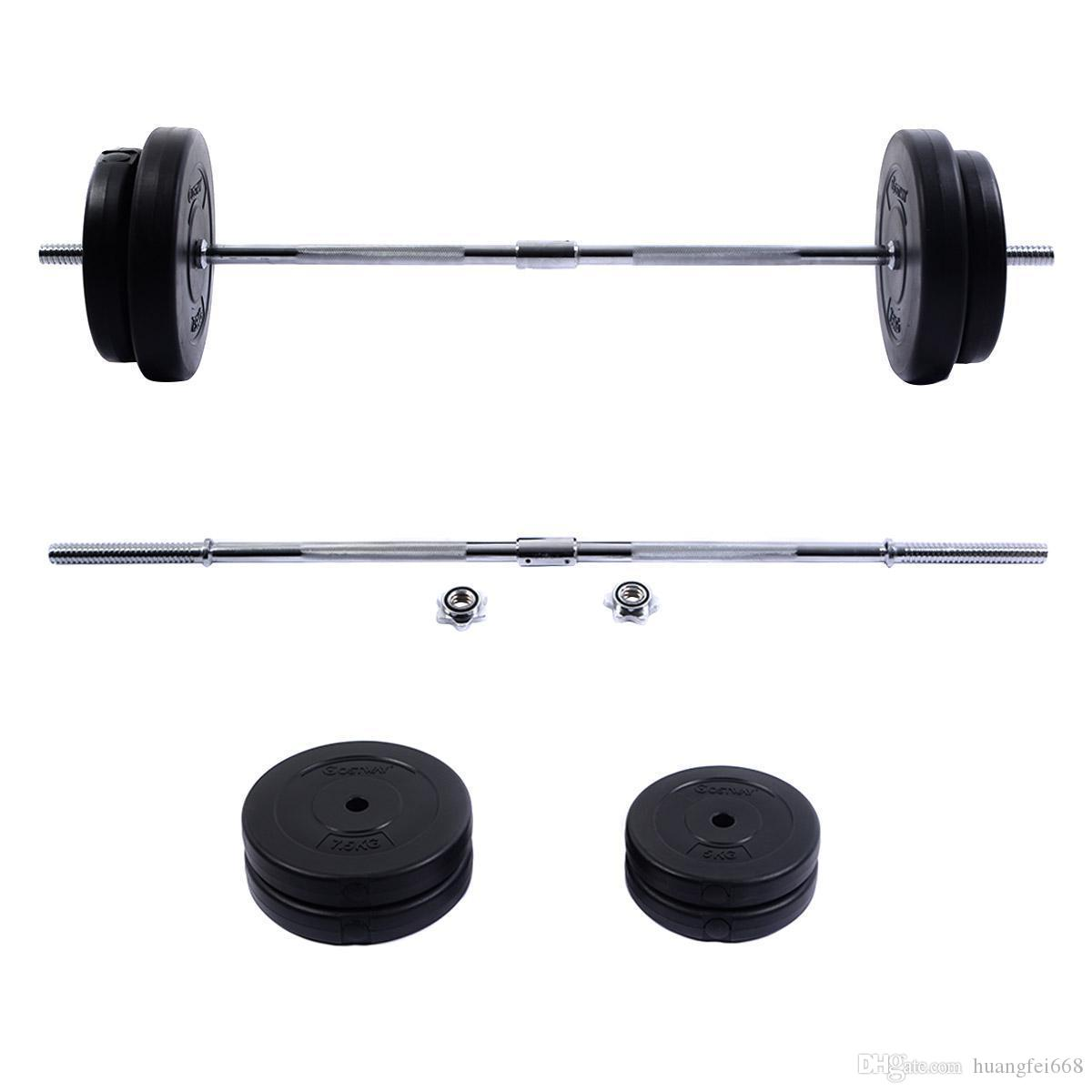 Online Cheap New 66 Lb Barbell Dumbbell Weight Set Gym Lifting Exercise Curl Bar Workout By
