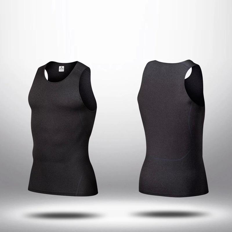 Wholesale men fitness sleeveless vest tight tops skin tees for Mens sleeveless denim shirt wholesale