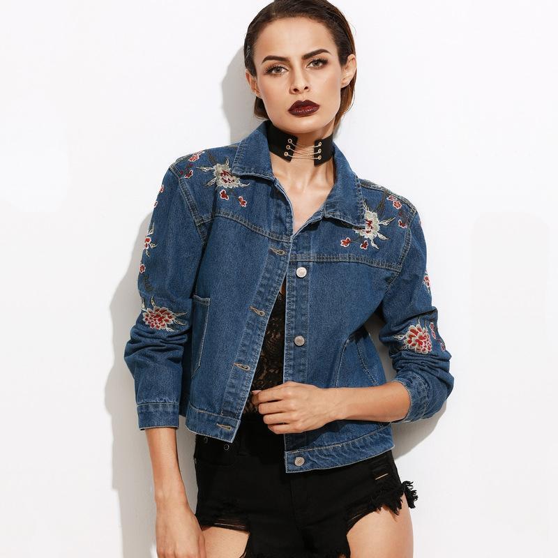 Cheap Dark Denim Jacket Women   Free Shipping Dark Denim Jacket