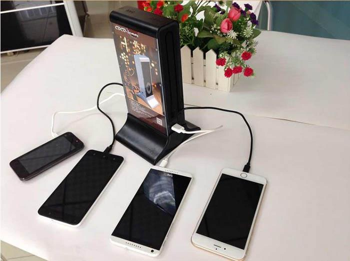 2018 restaurant portable cell phone charging station with Cell phone charging station