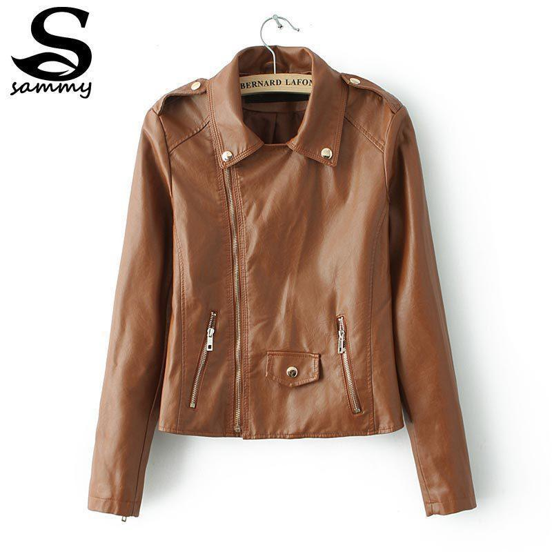 Cheap Women Brown Leather Jacket Designs | Free Shipping Women ...