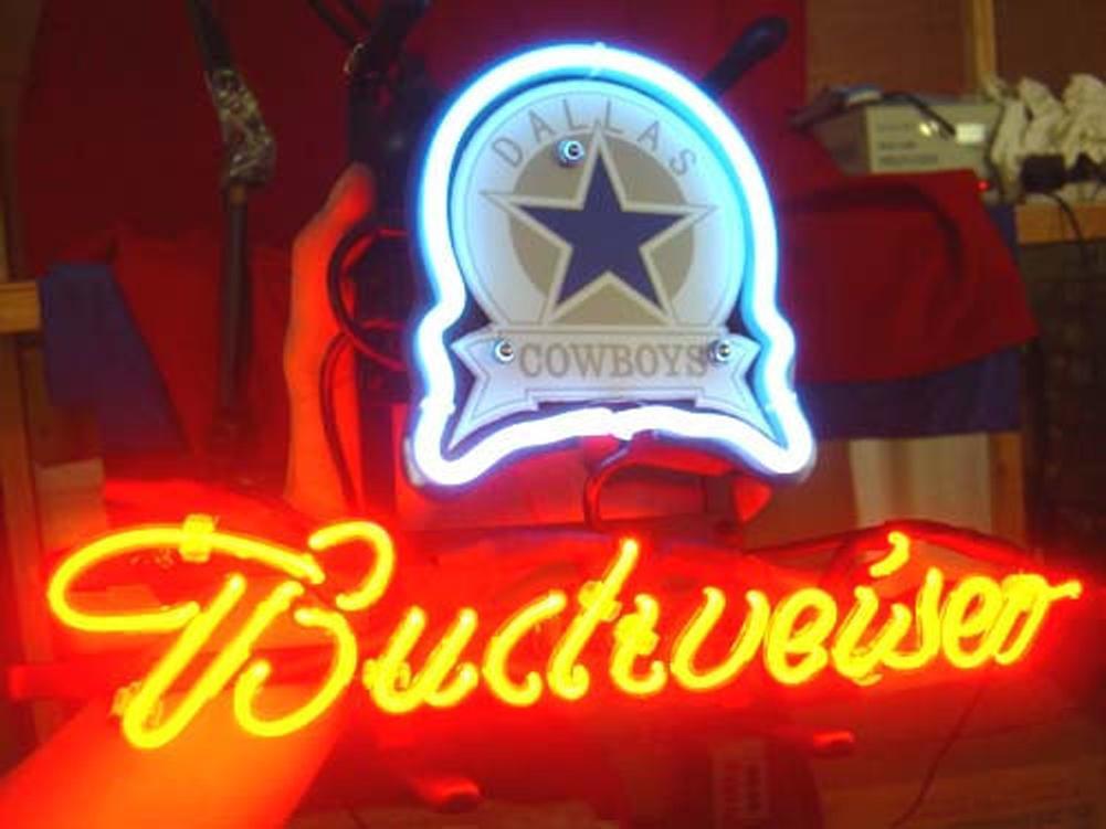Dallas Cowboys Football Beer Bar Real Glass Neon Light