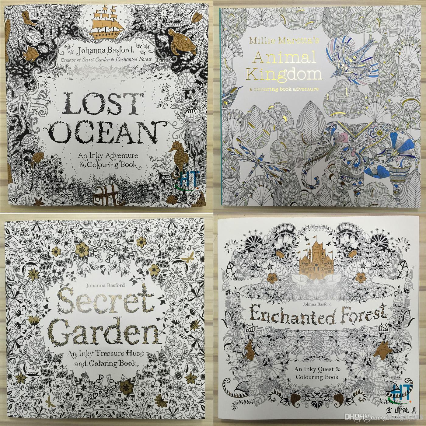 25x25cm Animal Kingdom Enchanted Forest Lost Ocean Secret