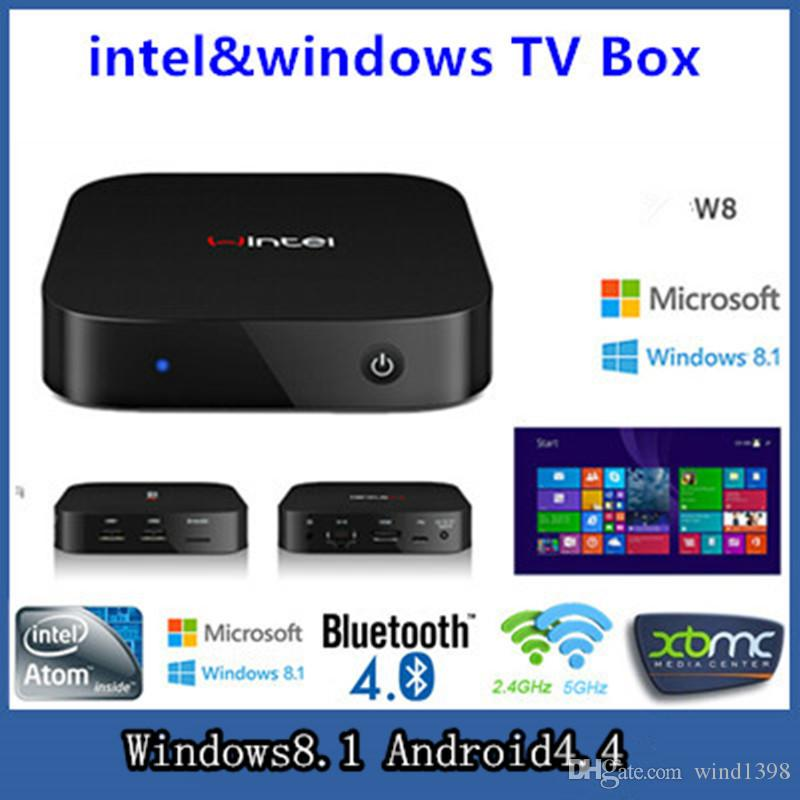 Nouvelle arrivée Intel Smart TV BOX CX-W8 win8 Mini PC Intel Atome Z3735F 2GB /