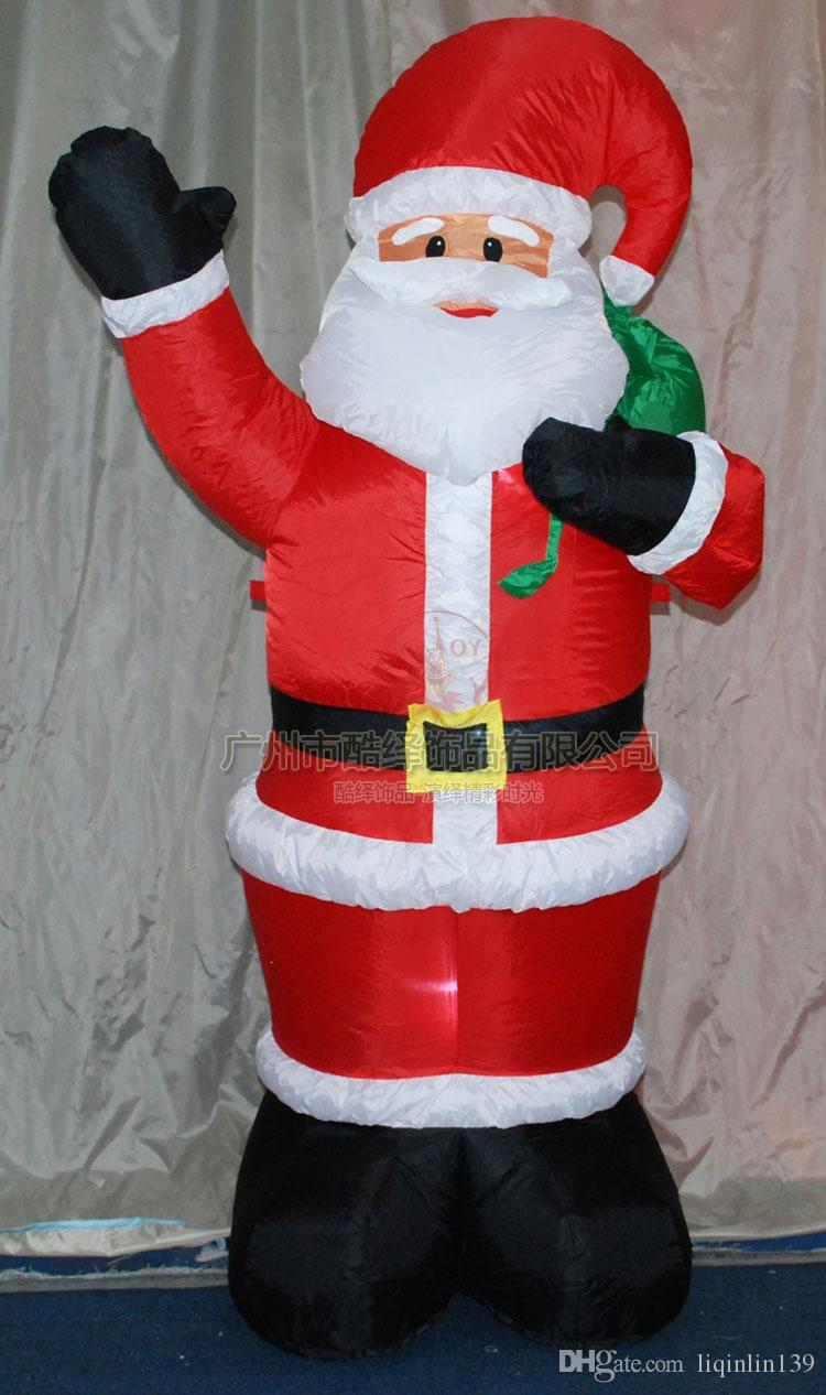 M feet giant inflatable santa claus led lighted hang