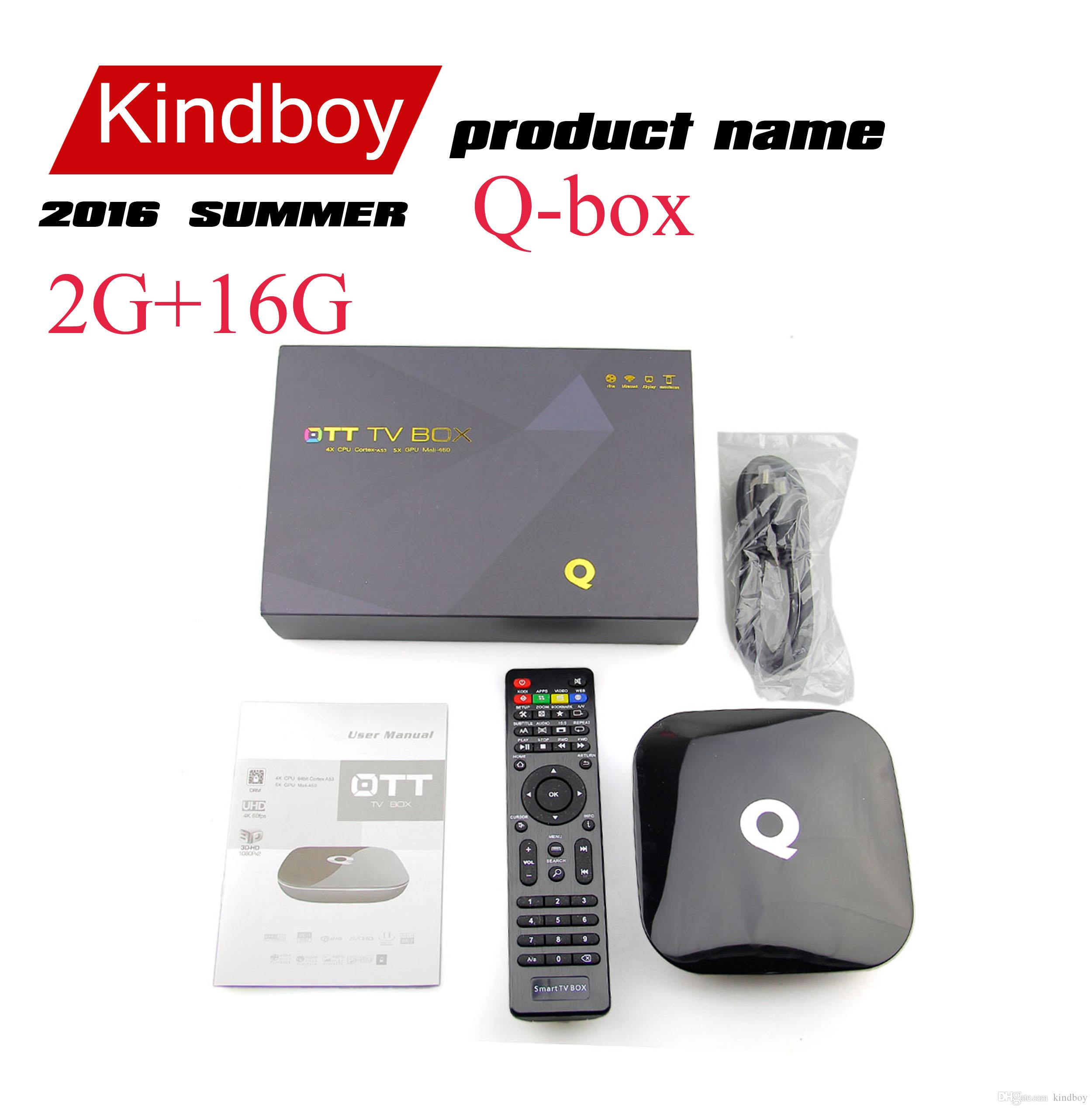 64bits TV MXQ PRO Q Box Android BOX Amlogic S905 2GB 16GB Kodi16.0 WiFi Bluetoot