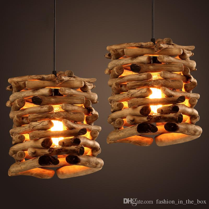 Native Wood Handmade Berry Light Wooden Chandelier Hanging