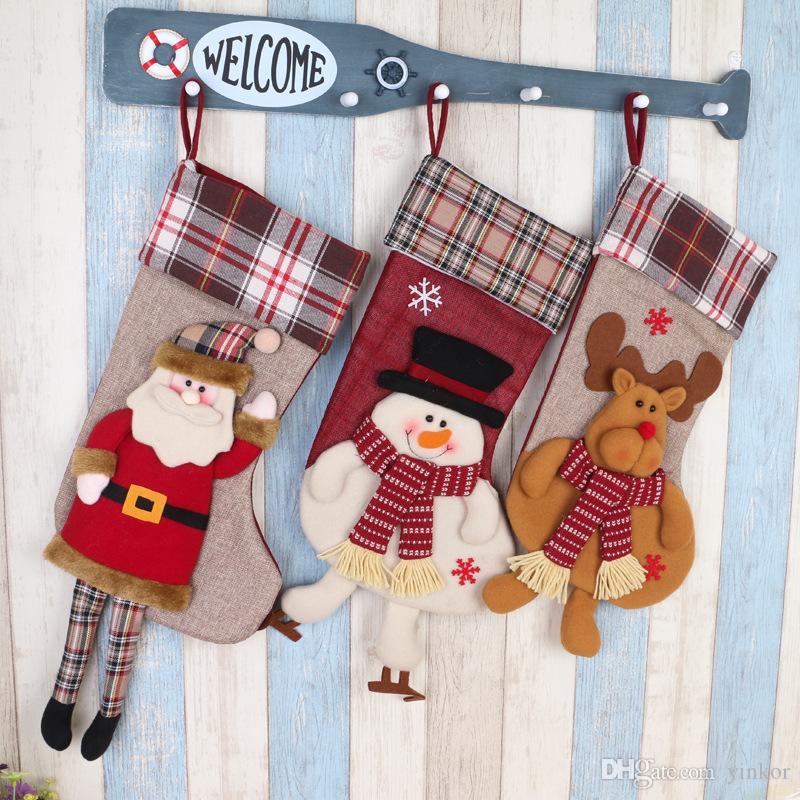 2016 Christmas Stockings Xmas Decor Ornaments Party