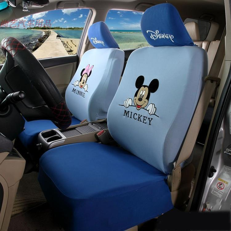 nterior accessories seat covers car styling red black beige mickey minnie mouse car seat. Black Bedroom Furniture Sets. Home Design Ideas