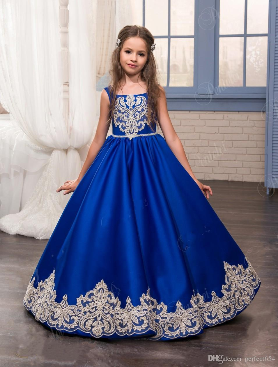 Childrens Royal Blue Party Dresses 6