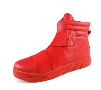 2015 Red High Top Casual For Men Winter Boots Leather Casual Men ...